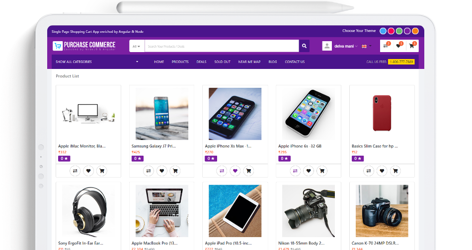 Angular Ecommerce Shopping Cart Template & Theme