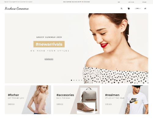 Apparels ecommerce website templates