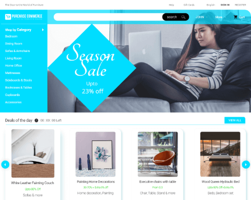 furniture ecommerce website templates