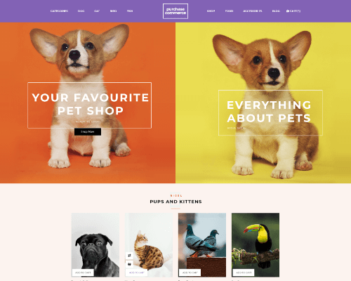 pet shop marketplace angular theme
