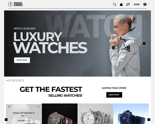 Watches ecommerce website templates
